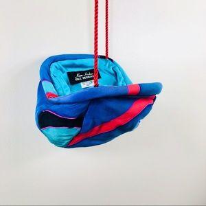 Vtg 80's Silk Color Block Purse by Kim Huber